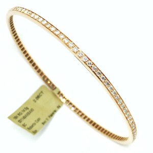 Roberto Coin 18K Rose Gold Full Diamond Pave 1-Row Round Bangle Bracelet