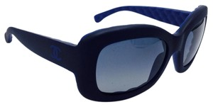 Chanel Navy Blue Matte Classic Square Polarized Sunglasses 6048 c.1482/Z8