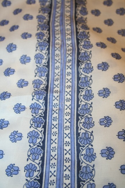 White and royal blue Maxi Dress by Other Salwar Kameez
