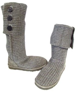 UGG Australia Sweater Fall Winter Warm Slouch Gray Boots