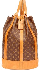Louis Vuitton Randonnee Monogram Canvas Leather Backpack