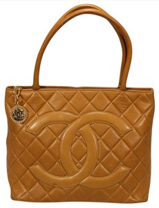 Chanel Leather Medallion Tote in Brown