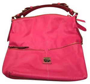 Dooney & Bourke Leather And Pink Hobo Bag