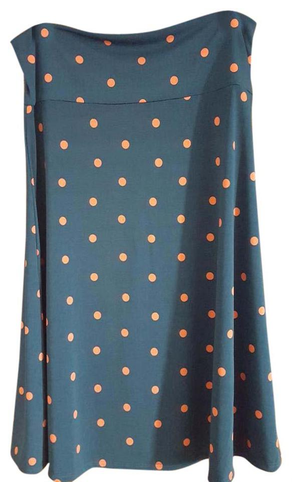 Clothing, Shoes & Accessories Lularoe Azure Large Teal With Pink Polka Dots Women's Clothing
