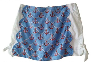 Lilly Pulitzer Scalloped Edge Anchors Away Mini Skirt White,Sailor Blue,Red