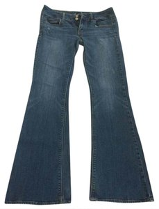 American Eagle Outfitters Size 6 Flare Leg Jeans-Medium Wash