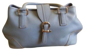 Burberry London Satchel in Baby Blue