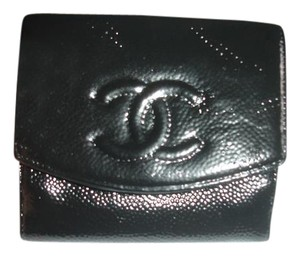 Chanel Chanel Authentic bifold wallet caviar skin France