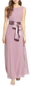 Lulu*s Bridesmaid Mauve Lavender Low Back Maxi Dress