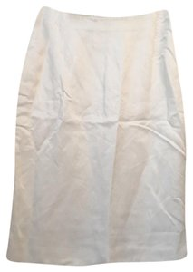 Max Mara Classic Pencil Wear To Work Skirt white