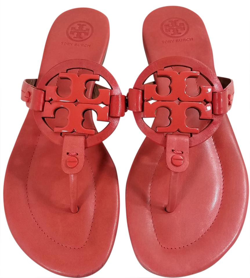 e8542937b65391 Tory Burch Orange Miller 2 Sandals Size US 6 Regular (M