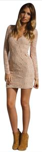 Nightcap Deep V Bodycon Lace Dress