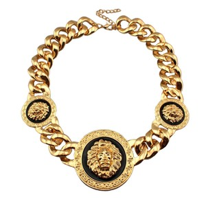 Colette Chunky Lion Head Chainlink Choker