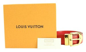 Louis Vuitton ( EXCELLENT - ) Red Epi Leather Belt 82LVA21717