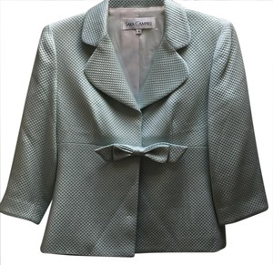 Sara Campbell Bow Kate Spade Textured Fitted Fitted green Blazer