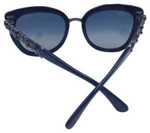 Chanel Chanel Blooming Bijou Blue and Silver Sunglasses 5356 c.1462/K4 56