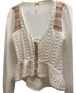 Free People Lacy Knit Waist Flattering Cardigan