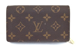 Louis Vuitton #10655 Monogram Flap Wallet Coin card bill holder change zip zipper