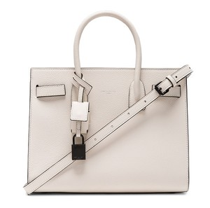 Saint Laurent Sac De Jour Black Tote in White