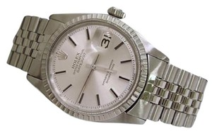 Rolex Men's Rolex DateJust Silver Stick Dial Stainless Steel Watch 1603