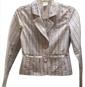 Z. Cavaricci Fitted Pastel Stripes Structured lavender Blazer