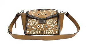 Prada Pristine Condition Embroidered Leather Satchel Shoulderbag Twin Pocket Cross Body Bag