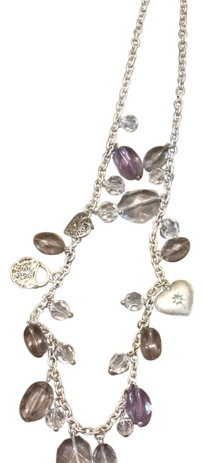 Item - Silver with Purple Stone Necklace