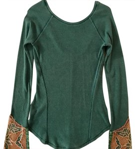 Free People Thermal Embroidered Bell Sleeve Sweater