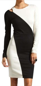 Alice + Olivia And Cutout Blackandwhite Josefina Dress