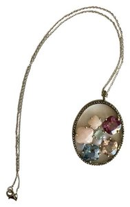 Judith Jack Judith Jack Sterling Silver Mixed Stone Circle Pendant Necklace
