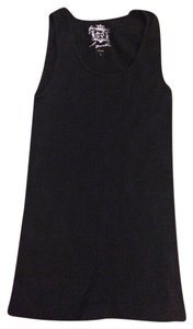 Sugarlips Never Worn Fitted Casual Scoop Neck Top Black