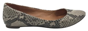 Madewell Python Snakeskin Pointed Toe Casual Leather Python Print Flats
