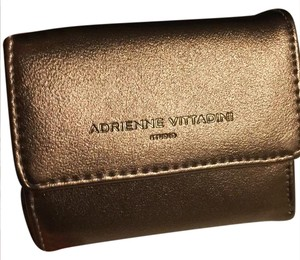 Adrienne Vittadini rose gold smooth coin purse