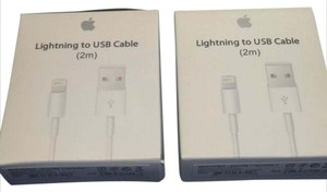 Apple 2 Extra-Long Genuine Original Apple Lightning USB Charger Cable iPhone 7 6s 5s