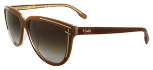 Fendi New FENDI FS5280 208 Toffee Women's Sunglasses Made in Italy