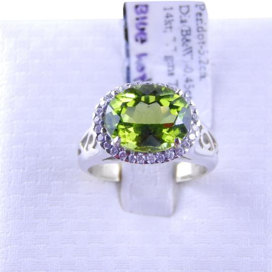 Custom-Made LIVELY PERIDOT RING WITH WIDE BAND