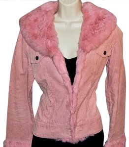 Cache pink Leather Jacket