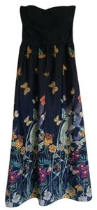 navy Maxi Dress by Modcloth Maxi Strapless