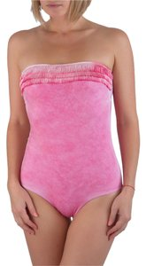Pin-Up Stars Pin-Up Stars Pink Bandeau One Piece Fringe Swimsuit ITALY S / 42