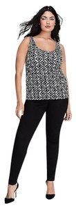 Lane Bryant Top BLACK WHITE