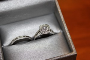 Zales Engagement And Wedding Ring Set
