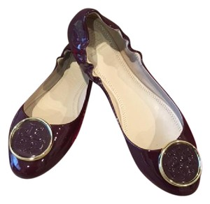 Tory Burch Wine Leather Flats