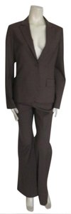 Theory THEORY WOMEN'S SUIT Sz 10 DARK single vent ONE BUTTON,94%woo6%spandex