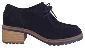 Clarks Booties Suede Loafer Black Mules