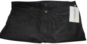 Dylan George Black Stretch 5 Pocket Mid-rise Skinny Jeans-Dark Rinse