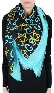 Gucci CLEARANCE BNWT GUCCI GHOST WRITERS SHAWL BLACK NEON