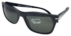 Persol New PERSOL Sunglasses 3135-S 95/31 55-19 145 Black Frame w/ Green