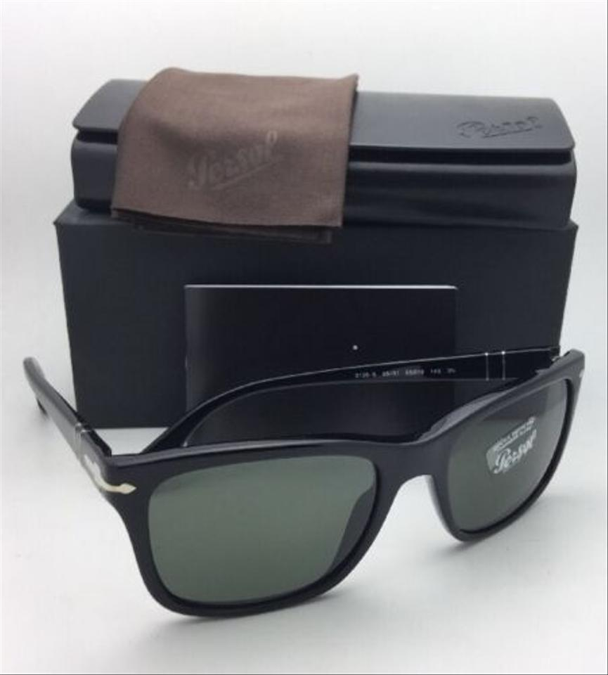 b64ede710a Persol New 3135-s 95 31 55-19 145 Black Frame W  Crystal Green Lenses 95 31  W  Sunglasses