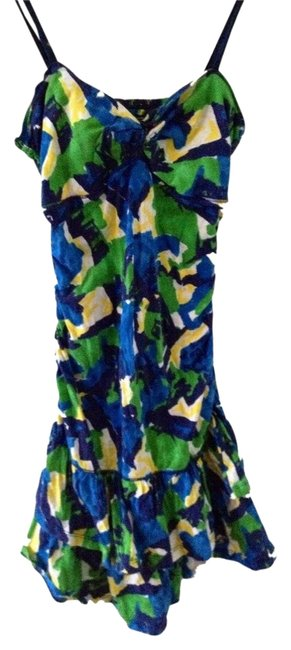 Hollister short dress Blue, Green, Yellow, White Multicolored Summer on Tradesy
