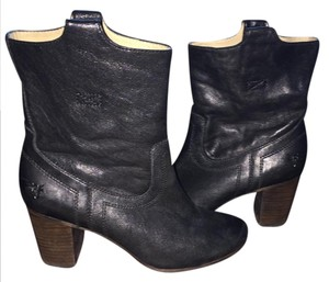 Frye Italian Leather Leather Lined Western Details Style 74463 Imported BLACK Boots